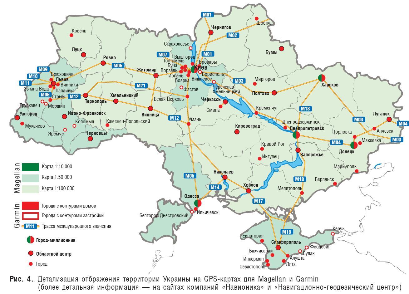 карта с привязкой к географической сеткой онлайн